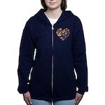 Italy World Cup 2014 Heart Women's Zip Hoodie
