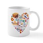 Italy World Cup 2014 Heart Mug
