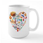 Italy World Cup 2014 Heart Large Mug