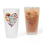 Italy World Cup 2014 Heart Drinking Glass