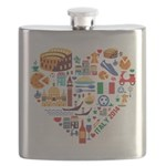 Italy World Cup 2014 Heart Flask