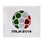 Italy World Cup 2014 Throw Blanket