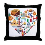 Italy World Cup 2014 Heart Throw Pillow