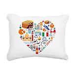 Italy World Cup 2014 Hea Rectangular Canvas Pillow