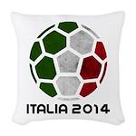 Italy World Cup 2014 Woven Throw Pillow
