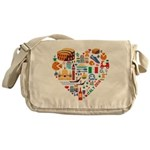 Italy World Cup 2014 Heart Messenger Bag