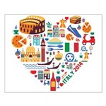 Italy World Cup 2014 Heart Small Poster