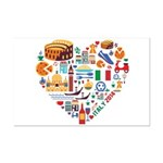 Italy World Cup 2014 Heart Mini Poster Print