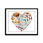 Italy World Cup 2014 Heart Framed Panel Print