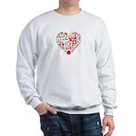 Switzerland World Cup 2014 Heart Sweatshirt