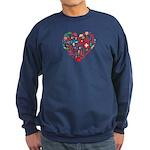 Switzerland World Cup 2014 Heart Sweatshirt (dark)