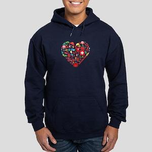 Switzerland World Cup 2014 Heart Hoodie (dark)
