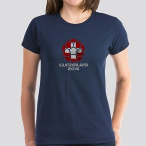 Switzerland World Cup 2014 Women's Dark T-Shirt