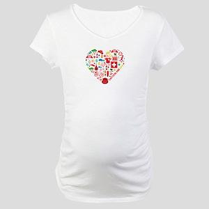 Switzerland World Cup 2014 Heart Maternity T-Shirt