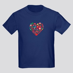 Switzerland World Cup 2014 Heart Kids Dark T-Shirt