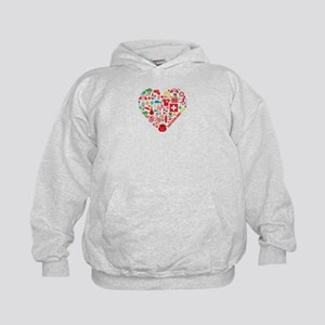 Switzerland World Cup 2014 Heart Kids Hoodie