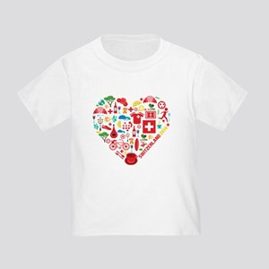 Switzerland World Cup 2014 Heart Toddler T-Shirt