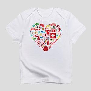 Switzerland World Cup 2014 Heart Infant T-Shirt