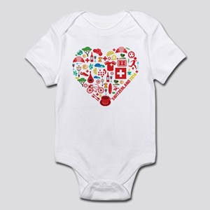 Switzerland World Cup 2014 Heart Infant Bodysuit