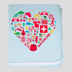 Switzerland World Cup 2014 Heart baby blanket