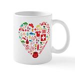 Switzerland World Cup 2014 Heart Mug