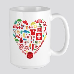 Switzerland World Cup 2014 Heart Large Mug