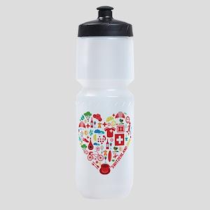 Switzerland World Cup 2014 Heart Sports Bottle