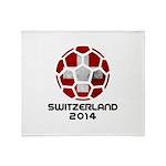 Switzerland World Cup 2014 Throw Blanket