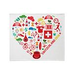 Switzerland World Cup 2014 Heart Throw Blanket