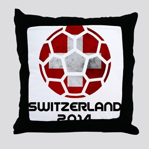 Switzerland World Cup 2014 Throw Pillow