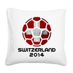 Switzerland World Cup 2014 Square Canvas Pillow