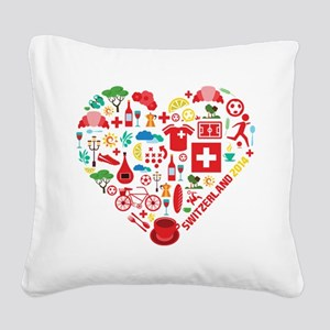 Switzerland World Cup 2014 He Square Canvas Pillow