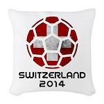 Switzerland World Cup 2014 Woven Throw Pillow