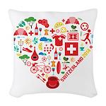Switzerland World Cup 2014 Hea Woven Throw Pillow