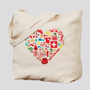 Switzerland World Cup 2014 Heart Tote Bag