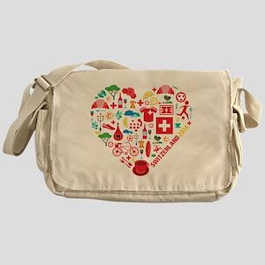 Switzerland World Cup 2014 Heart Messenger Bag