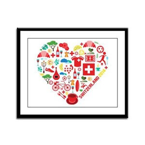 Switzerland World Cup 2014 Hear Framed Panel Print