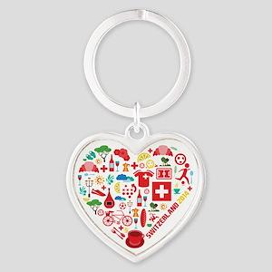 Switzerland World Cup 2014 Heart Heart Keychain