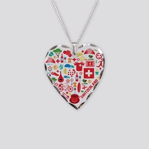Switzerland World Cup 2014 He Necklace Heart Charm