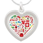 Switzerland World Cup 2014 H Silver Heart Necklace