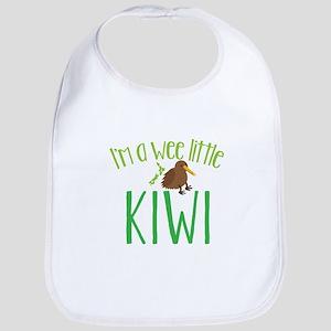 Im a wee little kiwi (New Zealand map) Bib