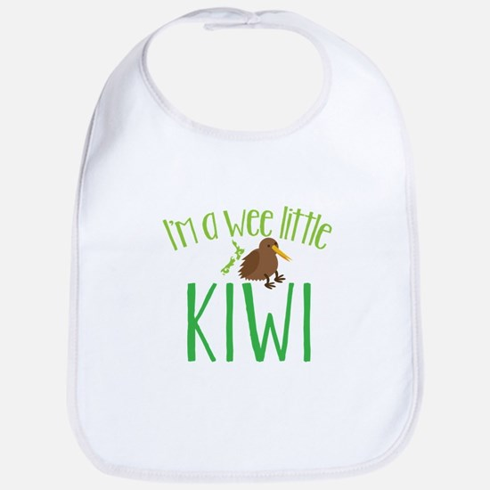 Im a wee little kiwi (New Zealand map) Bib