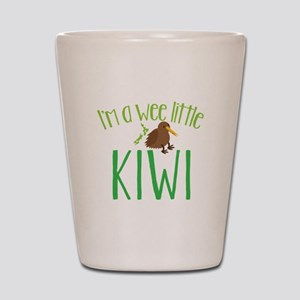 Im a wee little kiwi (New Zealand map) Shot Glass