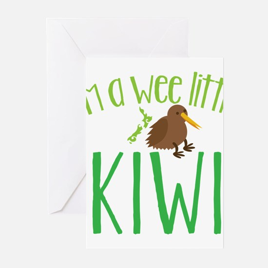 Im a wee little kiwi (New Zealand map) Greeting Ca