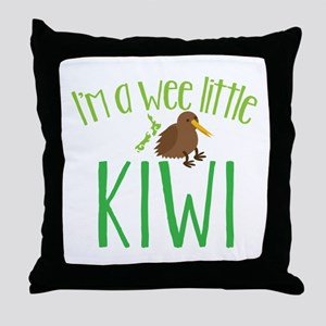 Im a wee little kiwi (New Zealand map) Throw Pillo