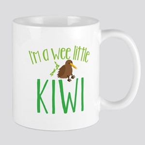 Im a wee little kiwi (New Zealand map) Mugs