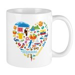 Ecuador World Cup 2014 Heart Mug