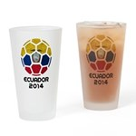 Ecuador World Cup 2014 Drinking Glass