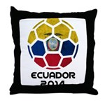 Ecuador World Cup 2014 Throw Pillow