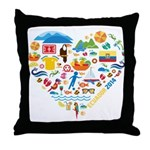 Ecuador World Cup 2014 Heart Throw Pillow